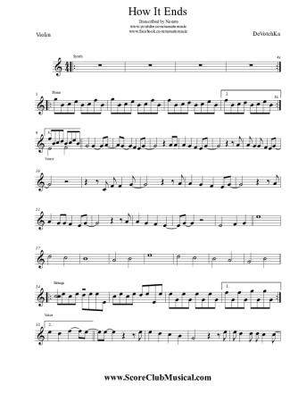 devotchka - how it ends - sheet music for violin  ariamus